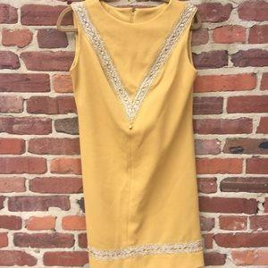 VINTAGE Golden Dress Embellished Rhinestones Gorge